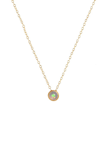 October Birthstone Dot Pendant