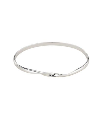 Sweet Charity Twist Bangle - Sterling Silver