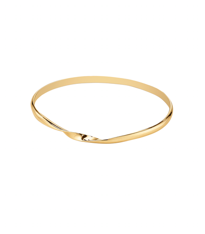 Sweet Charity Twist Bangle - 18K Yellow Gold