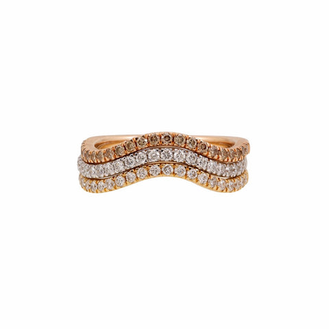 Harmonic Stackable Wave Ring