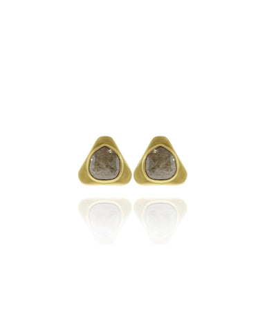 Black Diamond Teardrop Stud Earrings