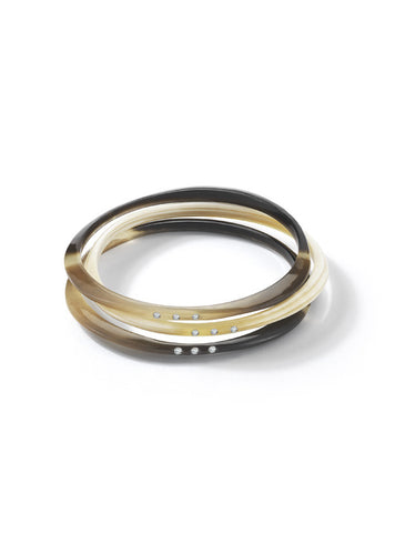 Halo Water Buffalo Horn Bangle