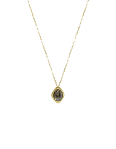 Black Diamond Small Oval Pendant