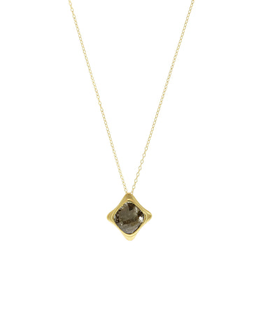 Black Diamond Small Cushion Pendant