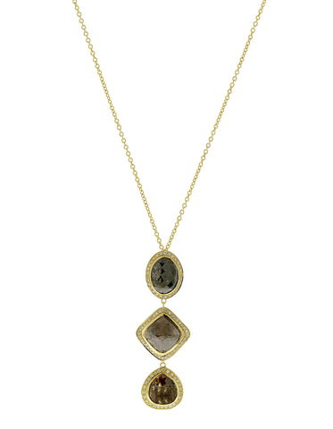 Black Diamond Triple Drop Pendant