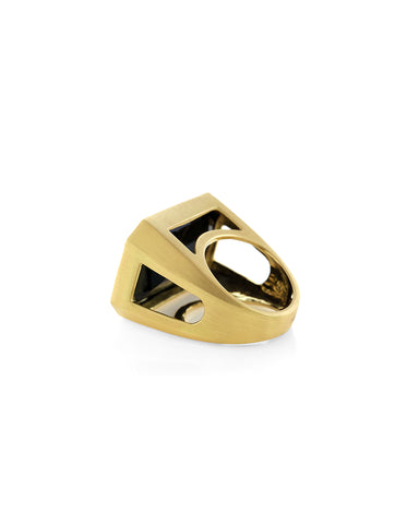 Canyon Jet Onyx Ring