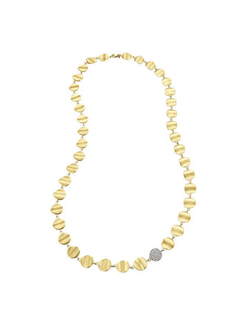 Origin Linked Necklace with Diamond Organic Link