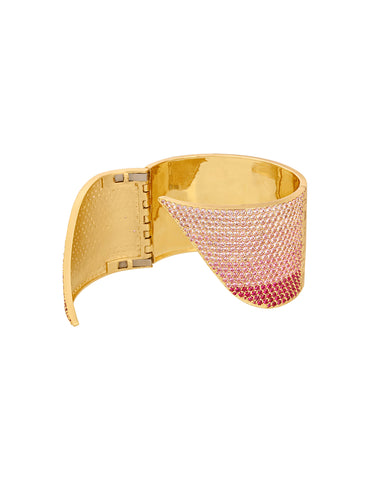 Twilight Ombre Rose Hinge Cuff