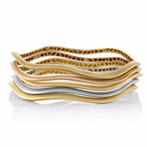 Thin Canyon Stackable Bangle