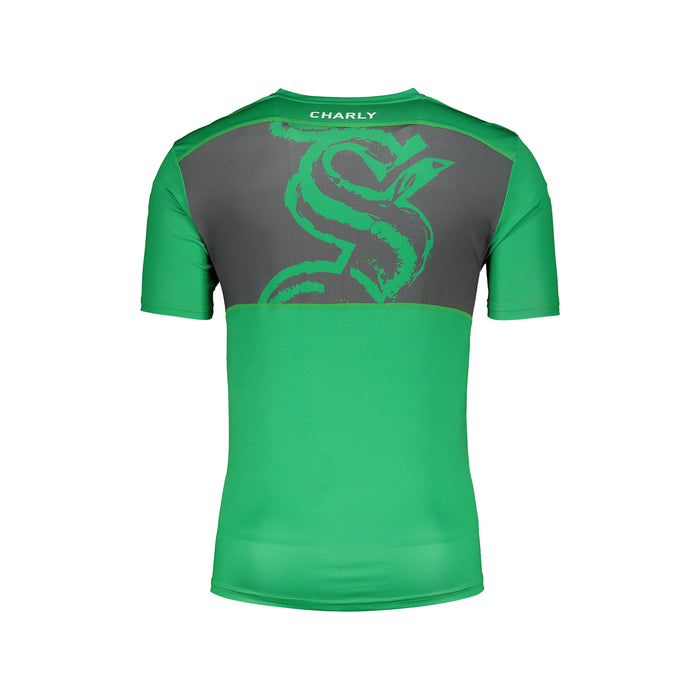 PLAYERA CHARLY SPORT TRAINING SANTOS PARA HOMBRE, EN COLOR VERDE/GRIS