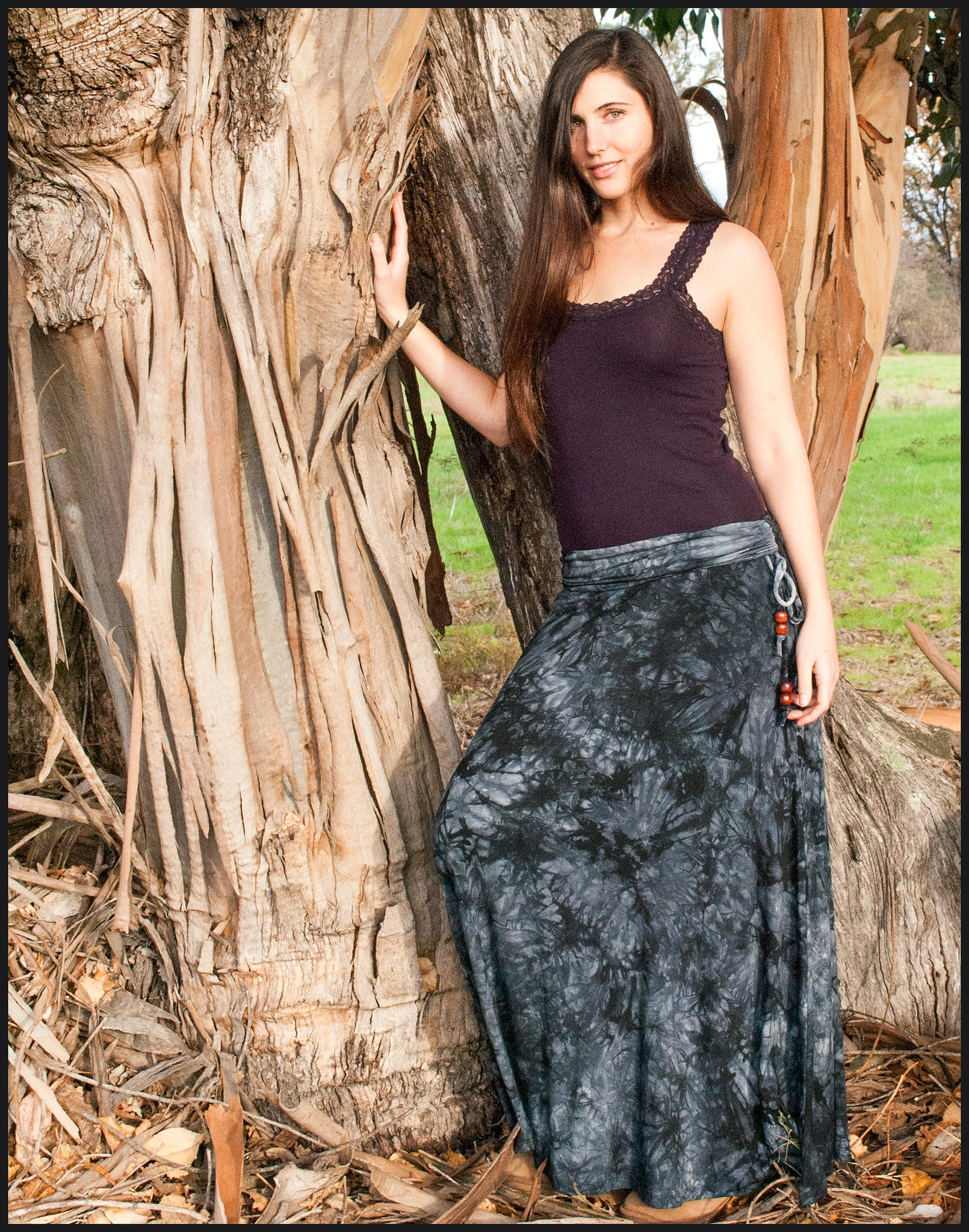 Beaded Flare skirt- Tie-dye skirts from Cali Kind
