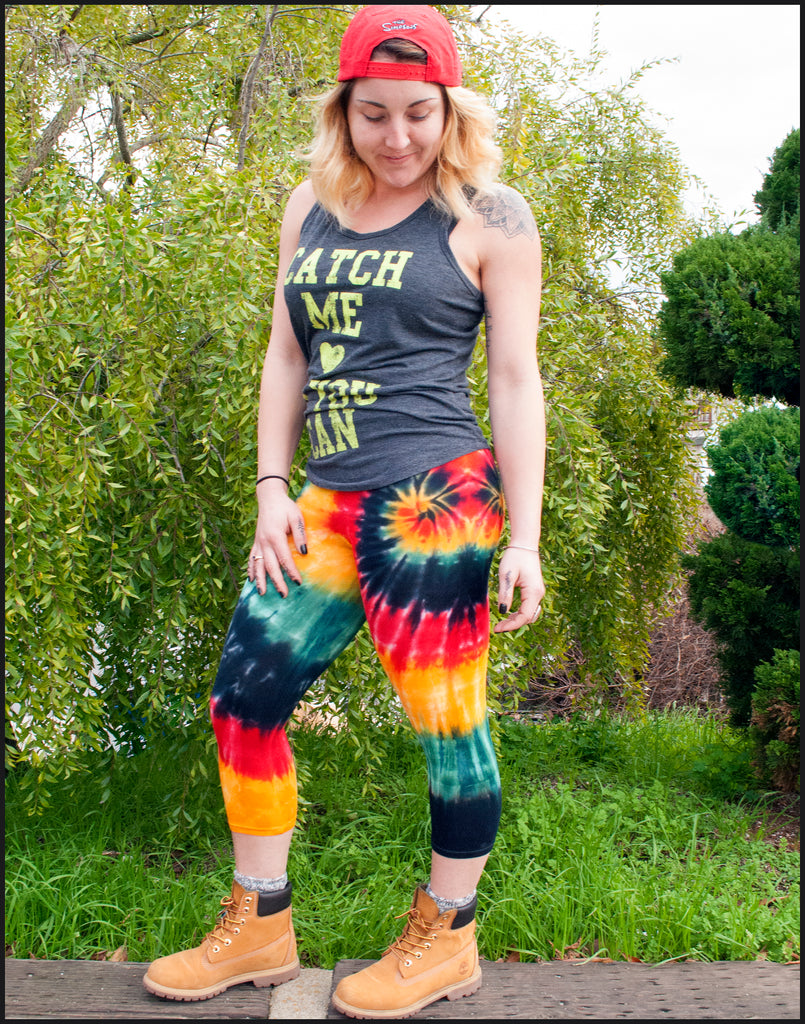 Links to tie-dye leggings: short