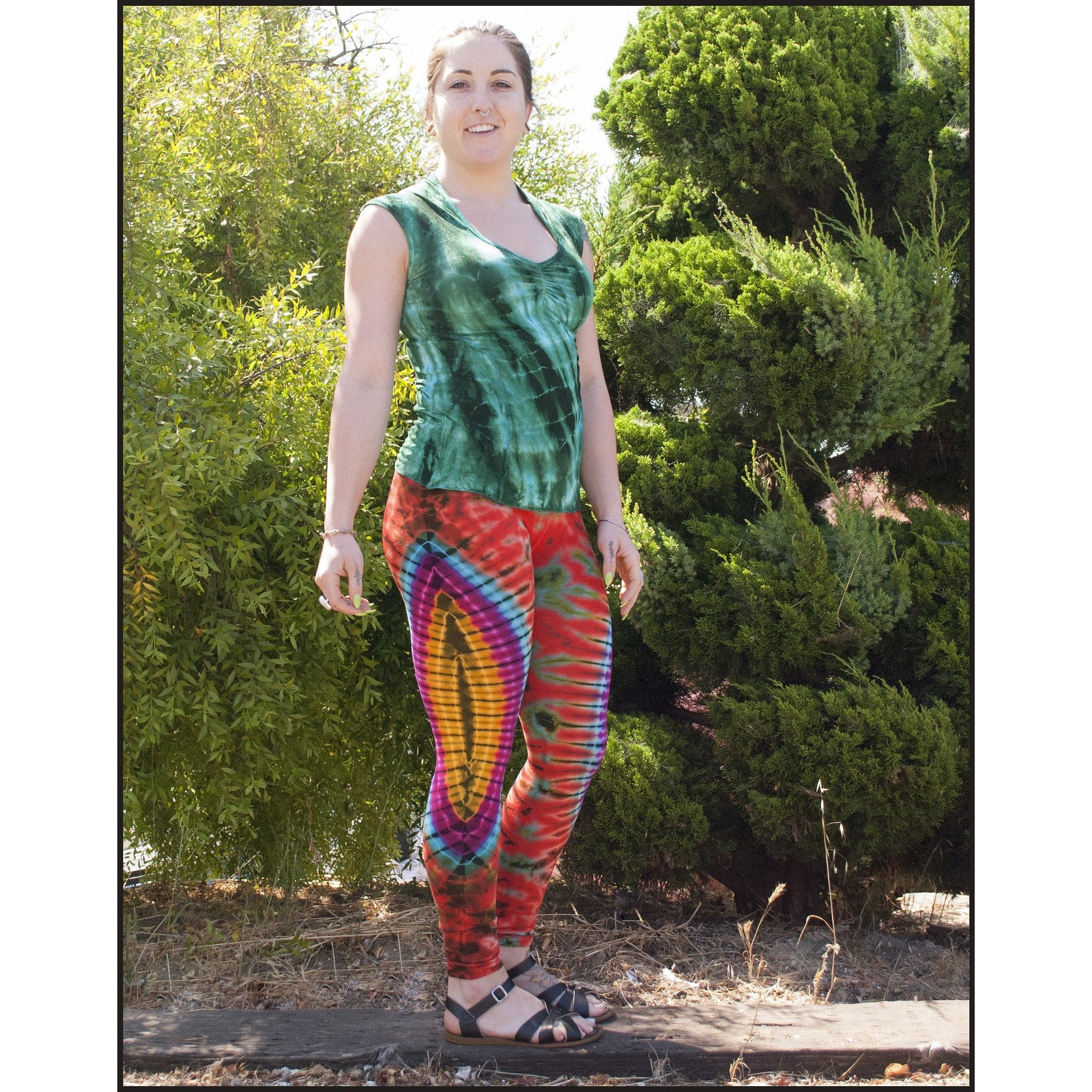 Cali Kind Clothing Tie dye Leggings in Aries