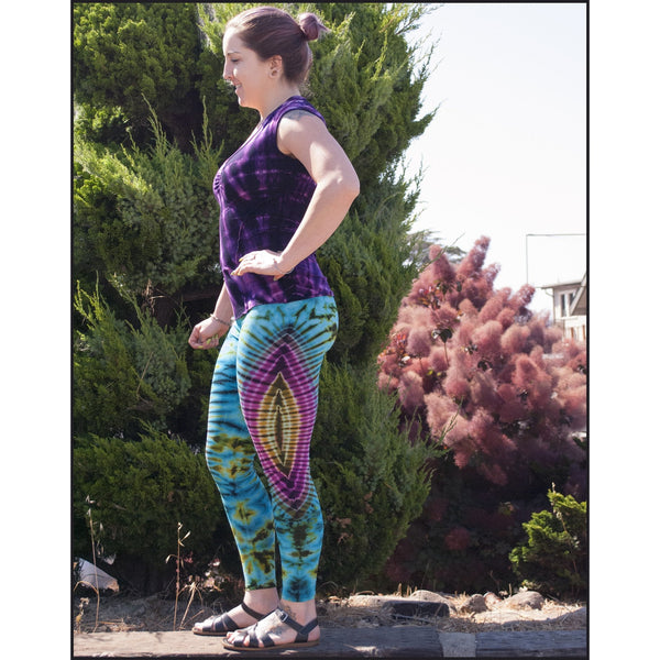 Pisces tie dye leggings from Cali Kind Clothing