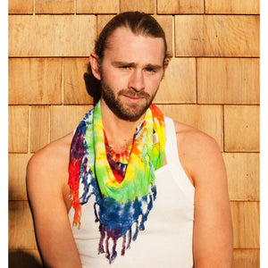 Tie-Dye Bandanna with Fringe - Cali Kind Clothing Co.