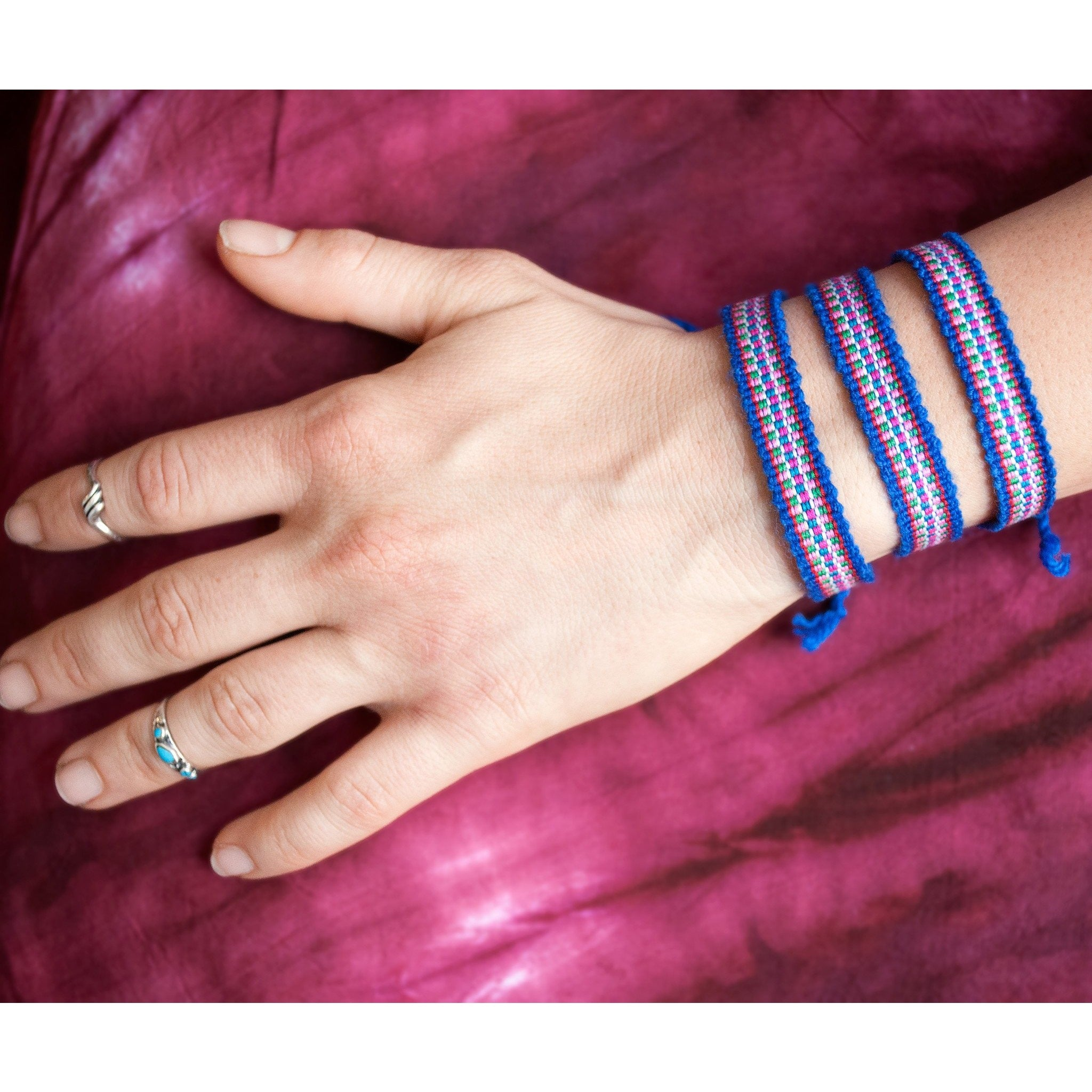Friendship Bracelet Pack: Blue - Cali Kind Clothing Co.