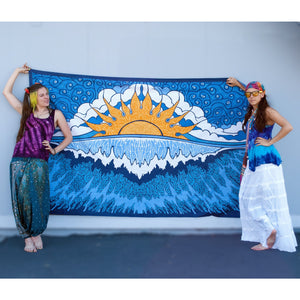 Blue Wave Single Tapestry - Cali Kind Clothing Co.