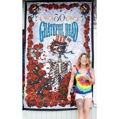Rosie: 50 Years Grateful Dead 3D Tapestry - Cali Kind Clothing Co.