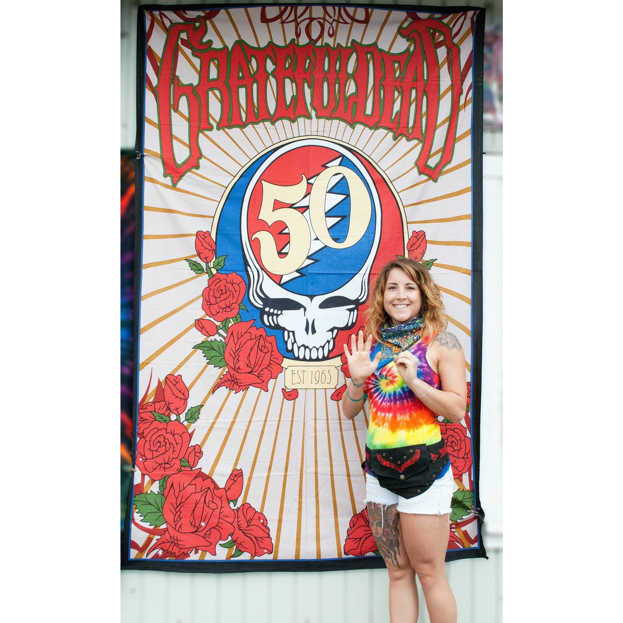 Grateful Dead's Steal Your Face 3D Tapestry - Cali Kind Clothing Co.