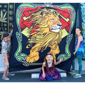 Lion Zion Double Tapestry - Cali Kind Clothing Co.