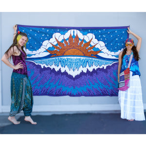Sunset Wave Single Tapestry - Cali Kind Clothing Co.