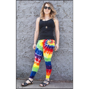Rainbow Tie-dye Long Leggings