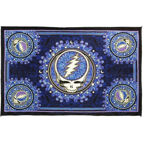 3D Grateful Dead Steal Your Face Mandala Tapestry