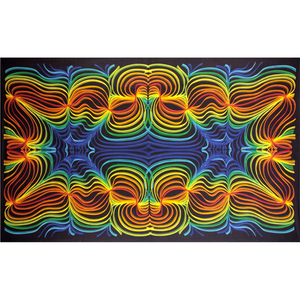 3D Rainbow Ripple Tapestry