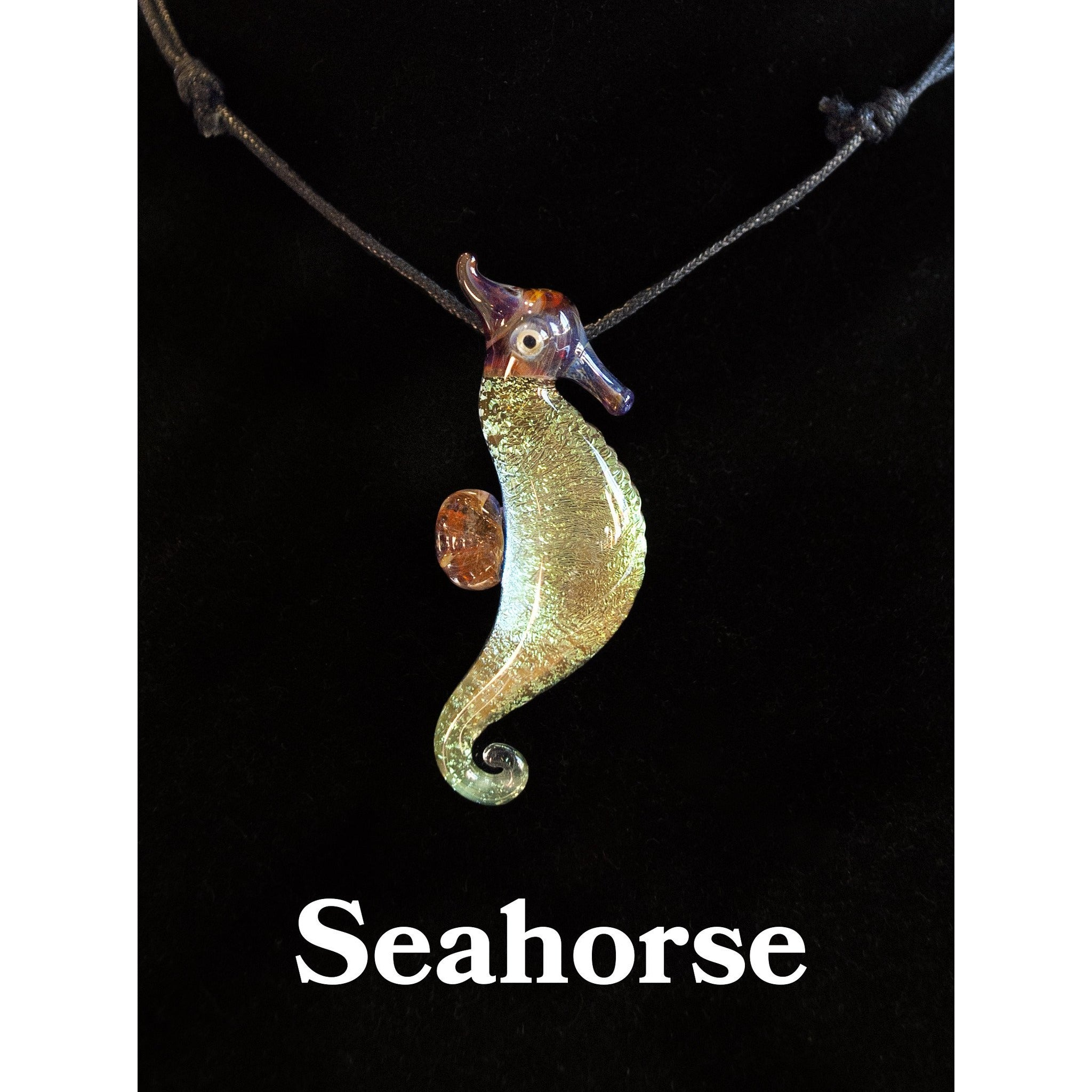 Seahorse Glass Necklace - Cali Kind Clothing Co.