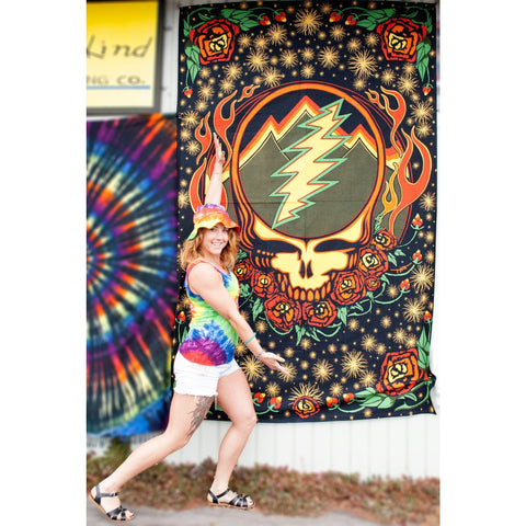 Mountainside Steal Your Face: Grateful Dead 3D Tapestry - Cali Kind Clothing Co.