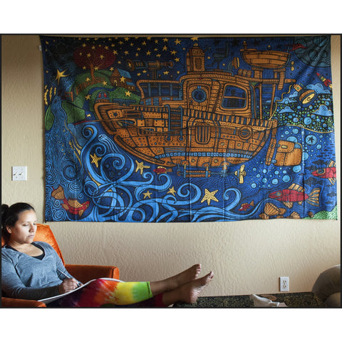Tugboat 3D Tapestry