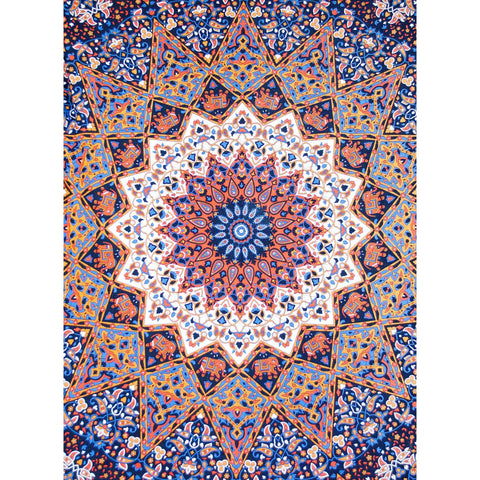 3D Mandala: Organge/Blue - Cali Kind Clothing Co.