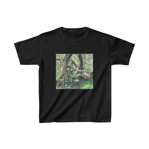 Kids Heavy Cotton™ Tee - Dancing trees in cloud forest El Yunque PR