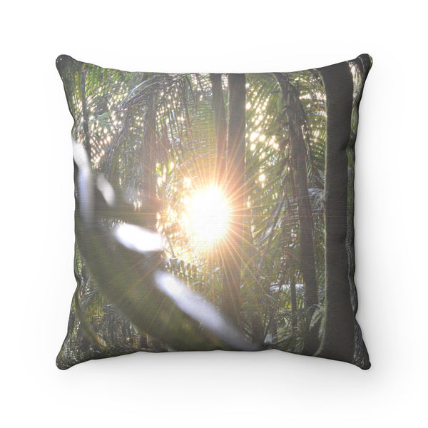 Holy Spirit river explorations - El Yunque rain forest PR - Spun Polyester Square Pillow