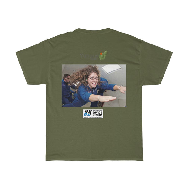 DEAL $18 - Gildan 5000 - Unisex Heavy Cotton Tee - Astronaut Christina Koch lands back on Earth after a record-breaking 328 days in space