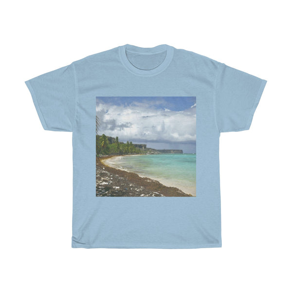 Gildan 5000 - Remote Mona Island Pajaros Beach -  PR - Unisex Heavy Cotton Tee (bundle)
