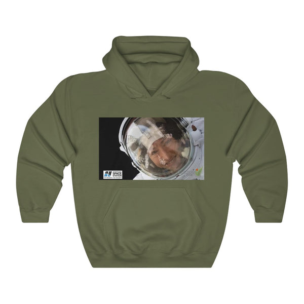 Space DEAL $28 - Gildan 18500 - Unisex Hooded Sweatshirt - Astronaut Christina Koch back on Earth after record-breaking 328 days in space - Jupiter closeup
