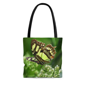 AOP Tote Bag - Butterfly in flower - El Yunque rainforest PR - myAwesomeHome.store