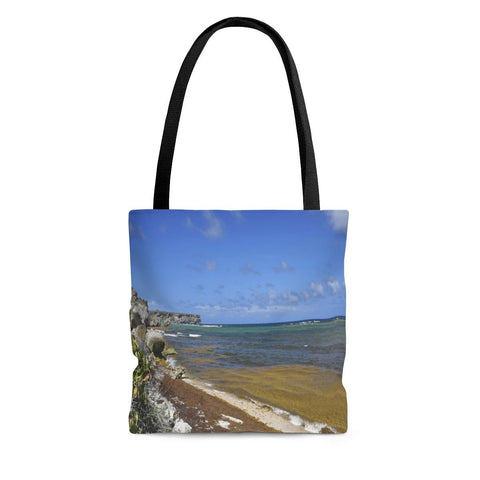 AOP Tote Bag - Remote Mona Island PR - myAwesomeHome.store