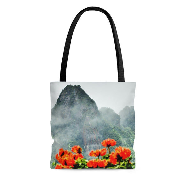 AOP Tote Bag - View from Yokahu tower after storm - El Yunque rainforest PR - myAwesomeHome.store