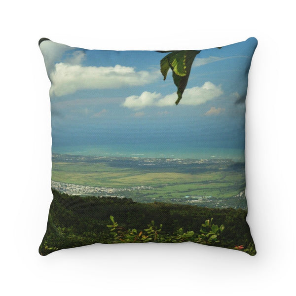 Awesome view from Los Tres Picachos at 3,175 feet - El Yunque rain forest PR - Spun Polyester Square Pillow - myAwesomeHome.store