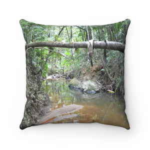 Holy Spirit river explorations - El Yunque rain forest PR - Spun Polyester Square Pillow (bundle)