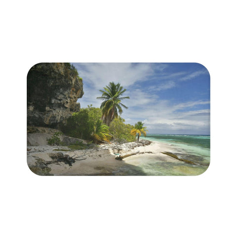 Bath Mat - Mona Island PR Pajaros beach edge next to cave
