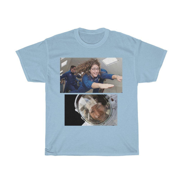 DEAL $18 - Gildan 5000 - Unisex Heavy Cotton Tee - Astronaut Christina Koch lands back on Earth after a record-breaking 328 days in space - SingleClick.store