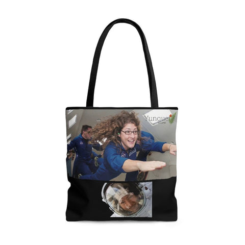 Historic Space DEAL $18 - AOP Tote Bag - Astronaut Christina Koch lands back on Earth after a record-breaking 328 days in space - SingleClick.store