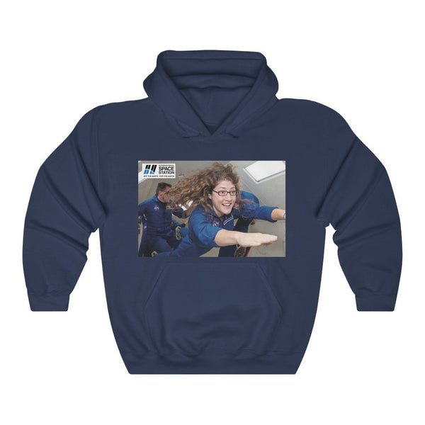Historic Space DEAL $28 - Gildan 18500 - Unisex Hooded Sweatshirt - Astronaut Christina Koch back on Earth after record-breaking 328 days in space - Mars explorers on back - SingleClick.store