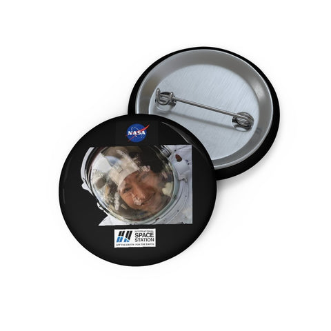 Historic Space DEAL $4 - Custom Pin Buttons - Astronaut Christina Koch lands back on Earth after a record-breaking 328 days in space - SingleClick.store