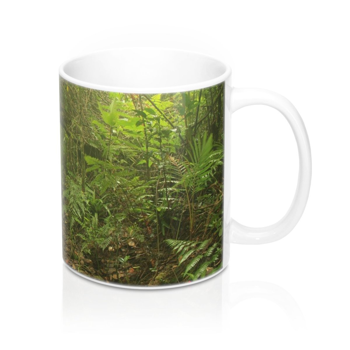 Mug 11oz - Awesome 14km Tradewinds trail full of fog - before Maria - El Yunque PR - SingleClick.store
