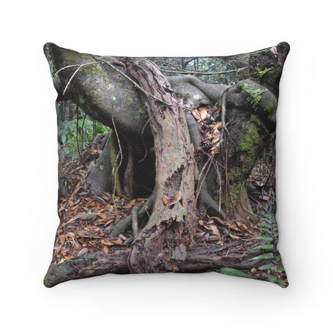 Old Pal and three amigos exploration - El Yunque rain forest PR - Spun Polyester Square Pillow - SingleClick.store