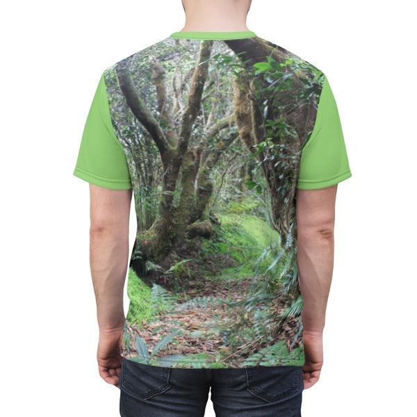 Paradise path on Tradewinds - Unisex AOP Cut & Sew Tee - SingleClick.store
